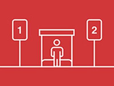 Parades dobles d'autobús per garantir el distanciament físic