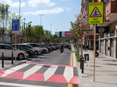 El tram inicial de la carretera del Prat, restringit a vehicles de veïns el cap de setmana