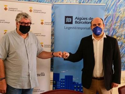 Aigües de Barcelona i l'Ajuntament de Cornellà renoven l'aliança per no deixar ningú enrere