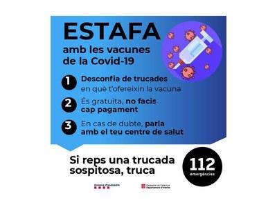 Alerten de trucades falses a gent gran per a vacunar-los a casa