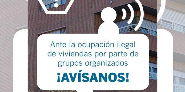 Campanya informativa dirigida a la ciutadania per a prevenir les ocupacions il·legals d'habitatges