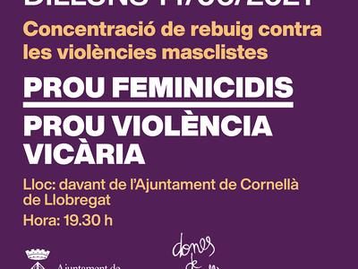 Concentració contra les violències masclistes 14/06/2021
