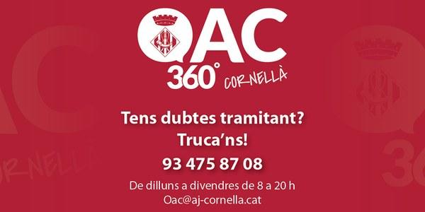 L'Ajuntament gestiona i agilitza telemàticament més de 1.300 tràmits mensuals a través del nou servei d'atenció telefònica i online OAC 360º