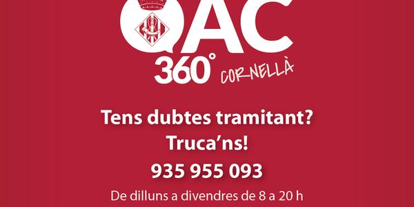 Nou telèfon d'atenció del servei OAC 360º