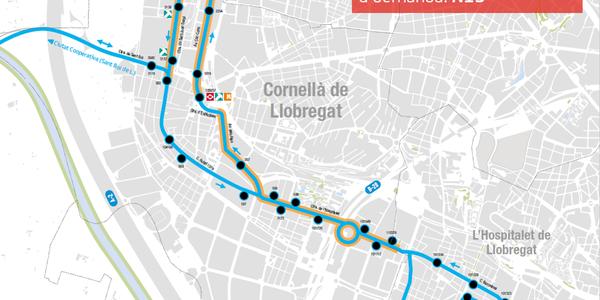 S'incorpora el servei de parades intermèdies a demanda a l'autobús nocturn N13