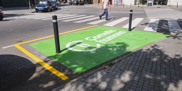 Mejorar la visibilidad de los pasos de peatones