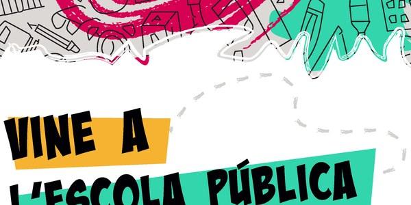 Mostra de cartells de la campanya Vine a l'Escola Pública 2021
