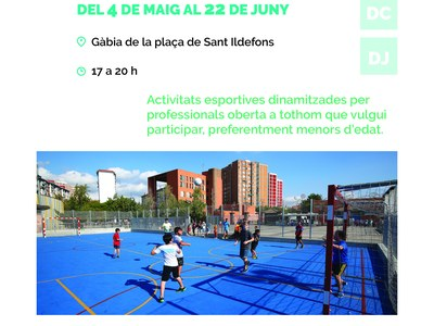 Obertura i dinamització de l'Equipament Esportiu de la Plaça Sant Ildefons