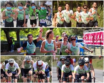 CLUB TRIATLÓ. Més de 100 socis/es i consolidació de l'escola amb més de 40 petits/es triatletes. L'equip absolut femení i masculí, competeix amb els 5 millors clubs de Catalunya.