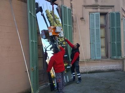 Vidres de seguretat al Museu Palau Mercader