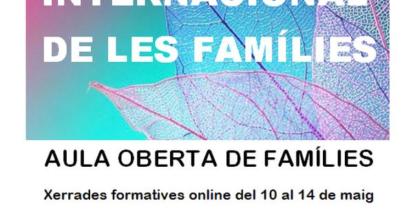 Dia Internacional de les Famílies: Setmana de Formació online per a Famílies