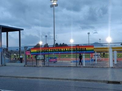 Commemoració del DIA INTERNACIONAL CONTRA LA LGTBFÒBIA A L'ESPORT a Cornellà de Llobregat