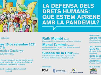 """Jornada sobre """"La defensa dels Drets Humans: Què estem aprenent amb la pandèmia?"""""""