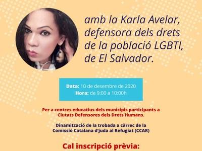 Trobada virtual: Fòrum dels Drets Humans amb Karla Avelar