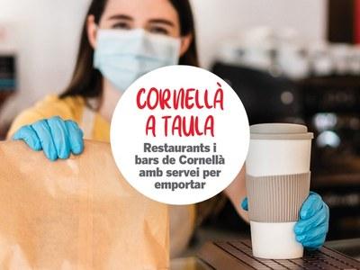 Bares y restaurantes de Cornellà ofrecen comida para llevar