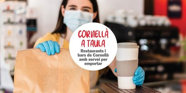 Recordad que sigue habiendo muchos bares y restaurantes de Cornellà que ofrecen comida para llevar y a domicilio