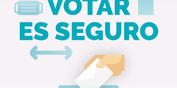 Indicaciones de seguridad para votar el domingo 14 de febrero