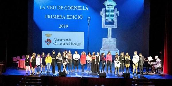 Los premiados de la primera edición de La Voz de Cornellà presentan un disco