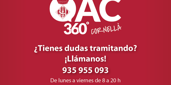 Nuevo teléfono de atención del servicio OAC 360º