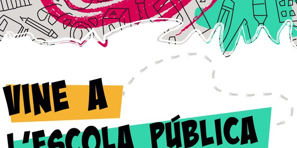 Muestra de carteles de la campaña Vine a l'Escola Pública 2021