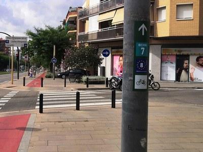 Señalización de la ruta cicloturista EuroVelo 8