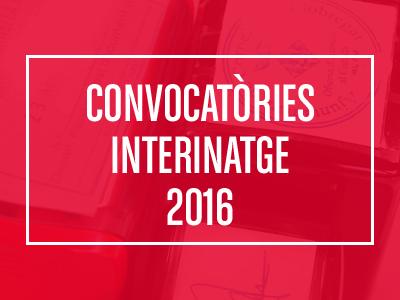Convocatories Interinatge 2016