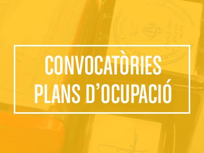 Plans Ocupació